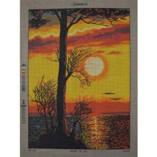 Κέντημα Ηλιοβασίλεμα