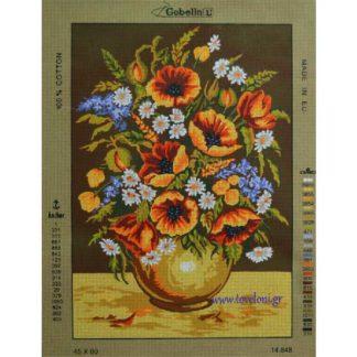 Κέντημα Βάζο Με Λουλούδια 14848