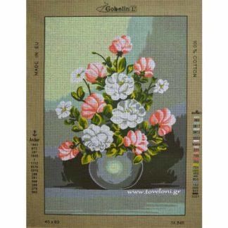 Κέντημα Βάζο Με Λουλούδια 14849