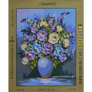 Κέντημα Βάζο Με Λουλούδια 40133