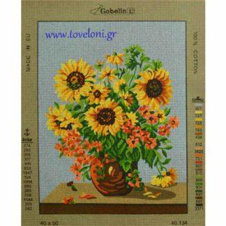 Κέντημα Βάζο Με Λουλούδια 40134