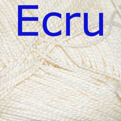Νήμα για πλέξιμο Coton Perle Χρώμα Εκρού