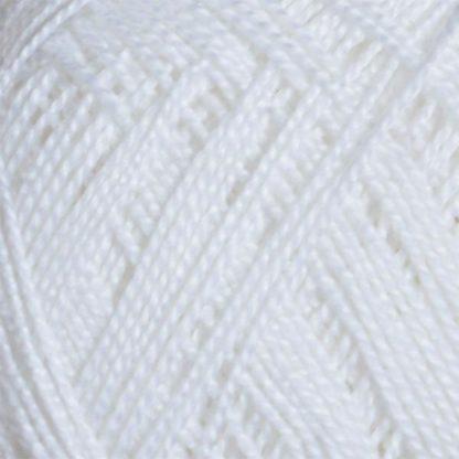 Νήμα για πλέξιμο Coton Perle Χρώμα Λευκό