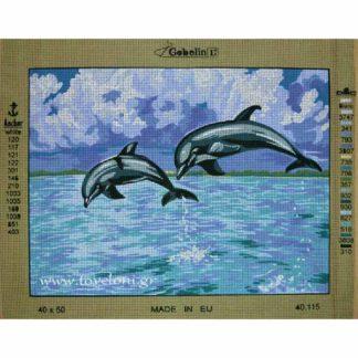 Κέντημα Δελφίνια