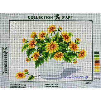 Κέντημα Βάζο Με λουλούδια 6196