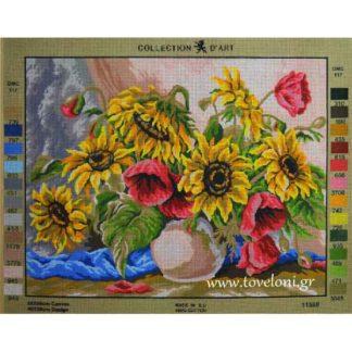 Κέντημα Βάζο Με Λουλούδια 11588