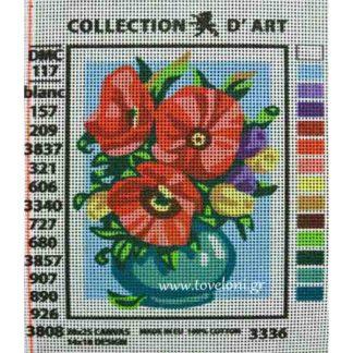 Κέντημα Βάζο Με Λουλούδια 3336