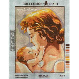 Κέντημα Γυναίκα Με Μωράκι 6218
