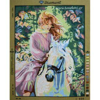 Κέντημα Γυναίκα Στο Άλογο 939