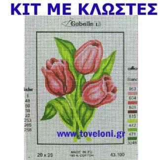 Κέντημα Κιτ Λουλούδια 43100
